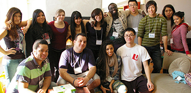 Students participating in a club at York U